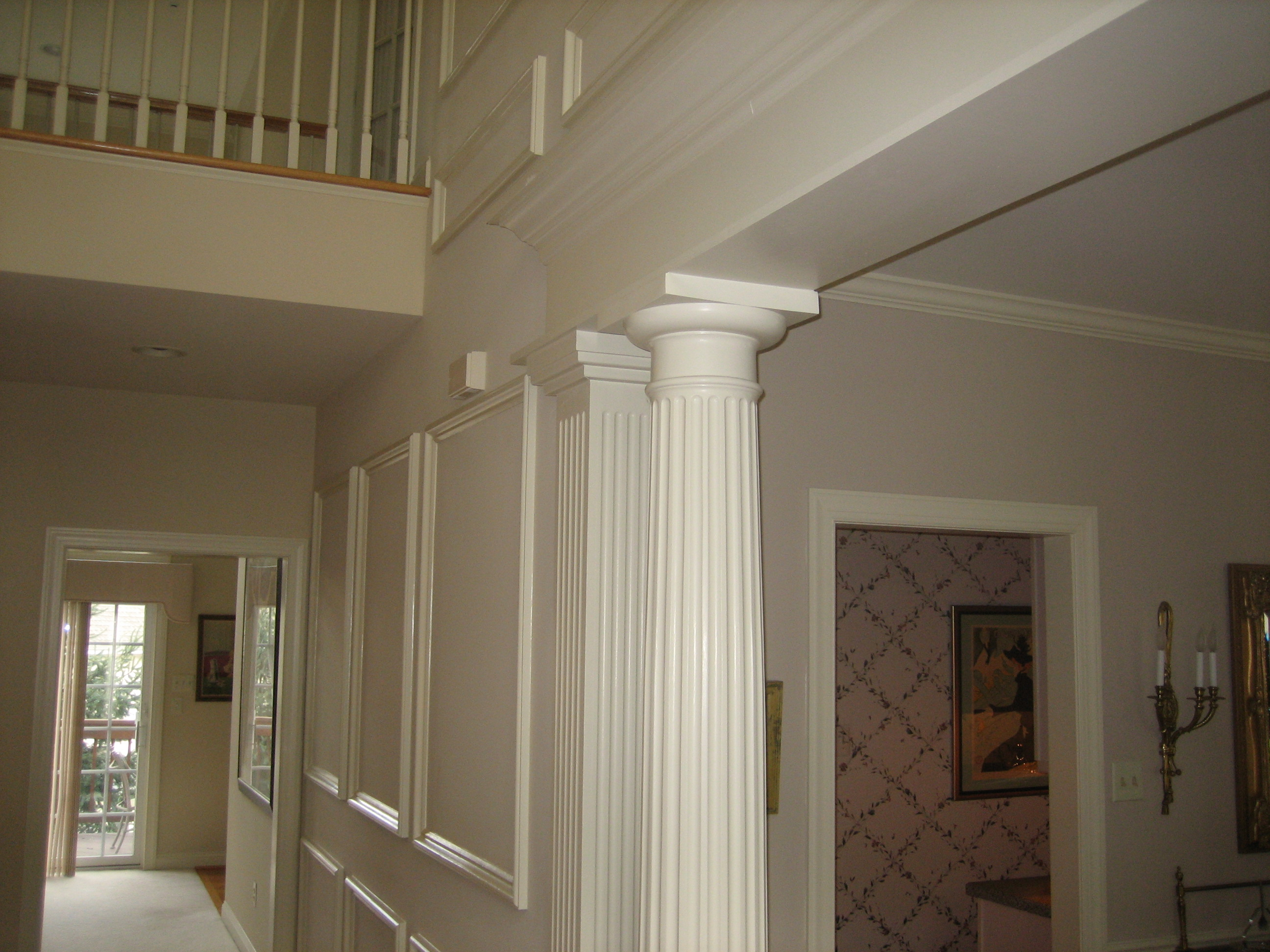 Columns and doorways crown trim by design Crown columns
