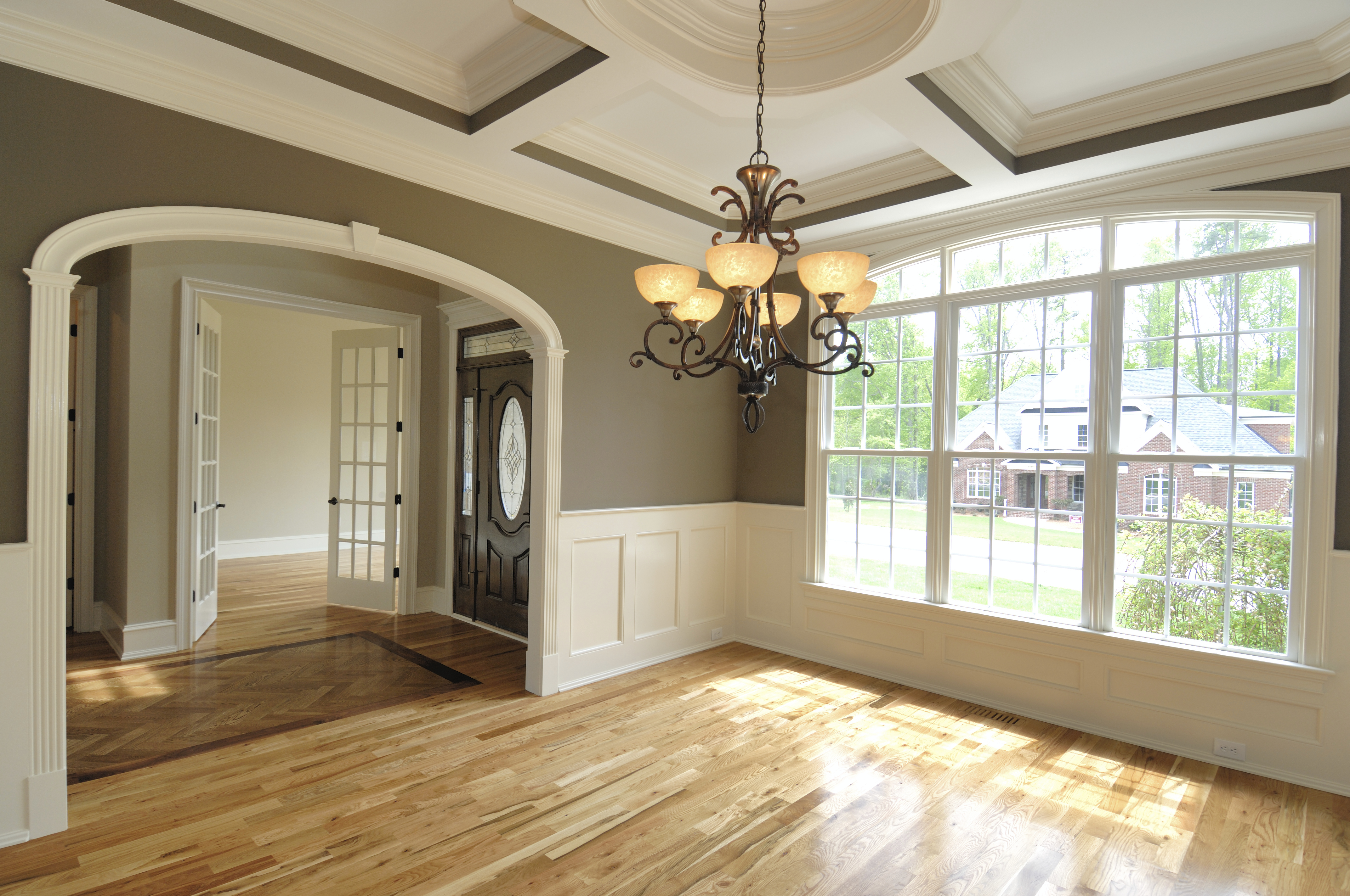 Coffered ceiling best opening
