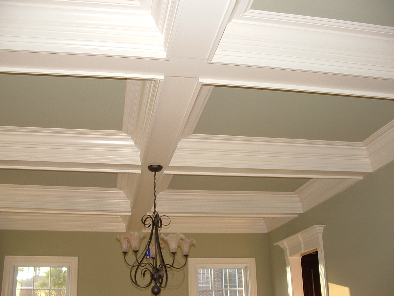 Coffered ceiling with detail