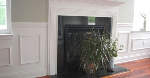Crown moulding fire place